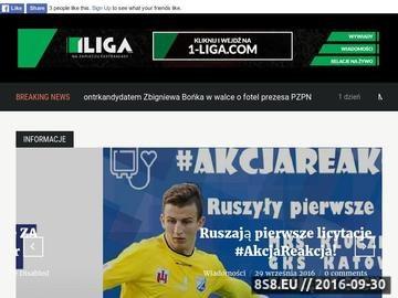 Zrzut strony Pierwsza liga Polska