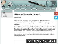 Miniaturka domeny 100at.pl