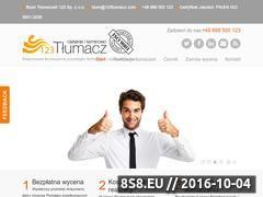Miniaturka domeny 123tlumacz.pl