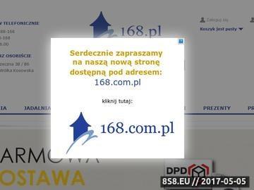 Zrzut strony Wyposażenie wnętrz 168.pl