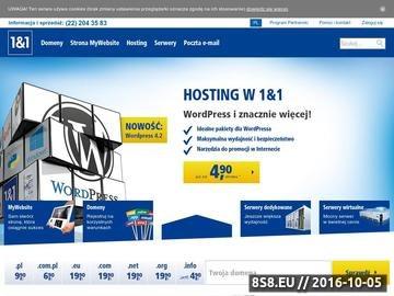 Zrzut strony Hosting stron internetowych