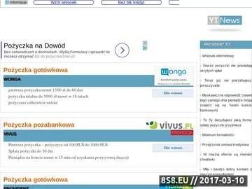 Zrzut strony Pożyczki gotówkowe firm Vivus, Wonga i Provident