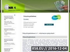 Miniaturka domeny www.1pozyczki.pl