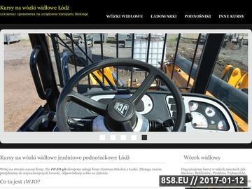 Zrzut strony Kurszy i szkolenia na urządzenia transportu bliskiego