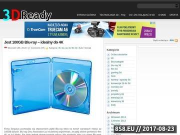 Zrzut strony 3D-Ready - pierwszy polski blog o technologii 3D-Ready