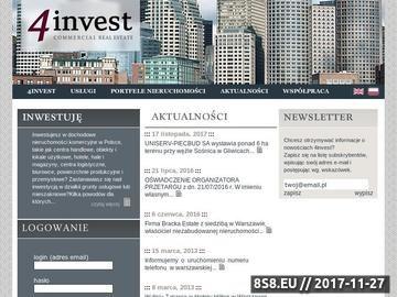 Zrzut strony Nieruchomości inwestycyjne
