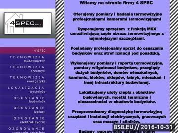 Zrzut strony Ofarta profesjonalnych usług termowizyjnych