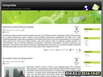 Zrzut strony Przedszkola Ursynów
