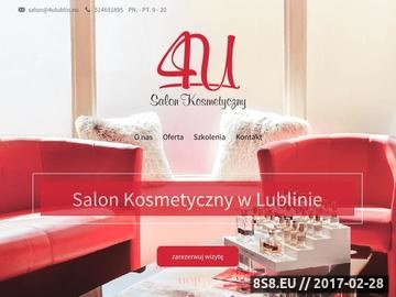 Zrzut strony Salon kosmetyczny 4U elektrostymulacja