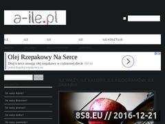 Miniaturka domeny www.a-ile.pl