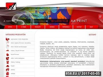 Zrzut strony Drukarnie Katowice -  AAPrint
