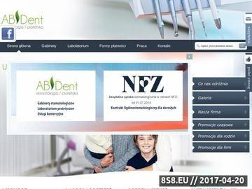 Zrzut strony Stomatologia i protetyka Kraków Ruczaj - ABDent