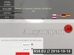 Miniaturka domeny www.absyntapartments.pl