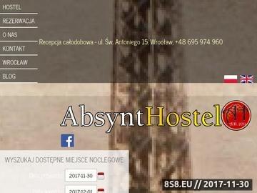 Zrzut strony Nocleg Wrocław - absynt hostel