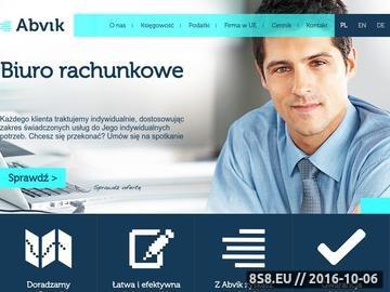 Zrzut strony Biuro Rachunkowe ABVIK - z nami zyskasz więcej!