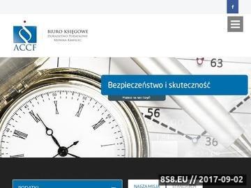 Zrzut strony Biuro rachunkowe w Krakowie - ACCF