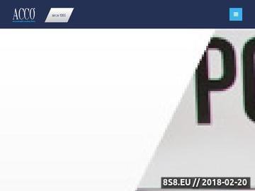 Zrzut strony Usługi rachunkowe Warszawa