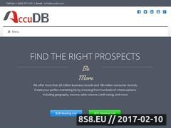 AccuDB Inc. Website