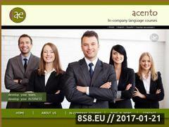Miniaturka domeny www.acentoespanol.pl