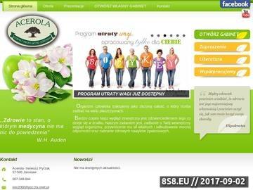 Zrzut strony Gabinet profilaktyki zdrowia Acerola w Jarosławiu - gabinet profilaktyki zdrowia