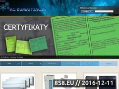 Miniaturka domeny www.acklimatyzacja.pl