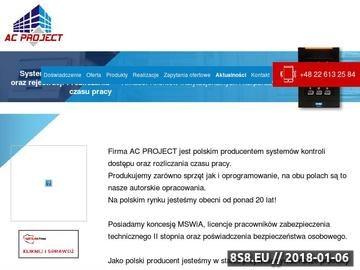 Zrzut strony Kontrola dostępu - Producent Systemów KD i RCP