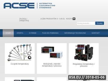 Zrzut strony ACSE Sp. z o.o. - regulatory temperatury, czujniki temperatury i termopary