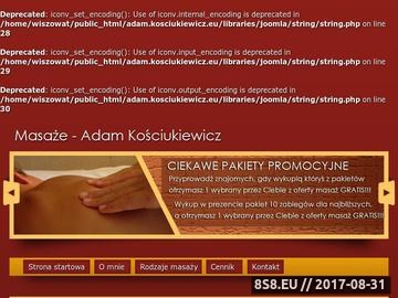 Zrzut strony Masaż Białystok