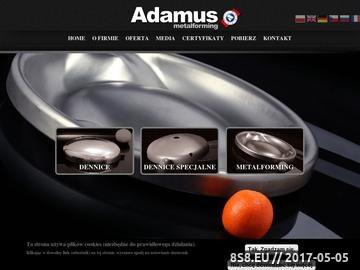 Zrzut strony Firma oferuje obróbkę plastyczną elementów stalowych