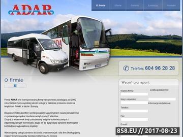 Zrzut strony ADAR wynajem autokaru