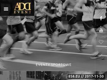 Zrzut strony Organizacja imprez sportowych Addevent