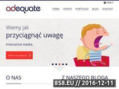 Miniaturka domeny www.adequate.pl