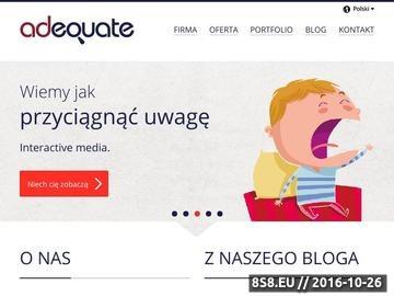 Zrzut strony Adequate - reklama w internecie