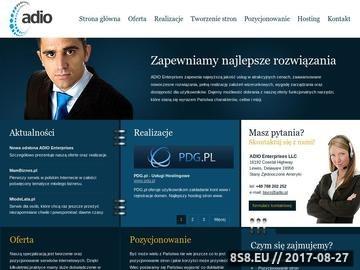 Zrzut strony Projekty WWW