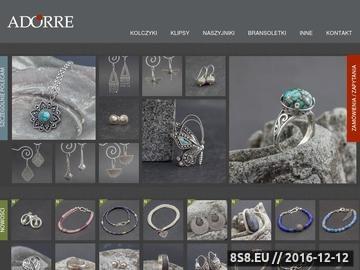 Zrzut strony Adorre - srebrna biżuteria w stylu orientalnym