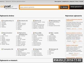 Zrzut strony Adpost.pl - ogólnopolski serwis ogłoszeniowy