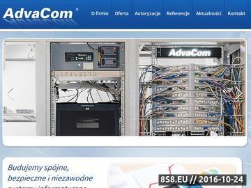 Zrzut strony ADVACOM budowa systemów okablowania strukturalnego