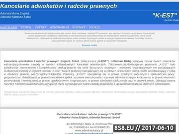 Zrzut strony Usługi adwokata w Bielsku Białej