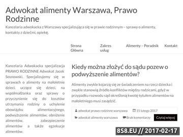 Zrzut strony Adwokat - prawo rodzinne Warszawa