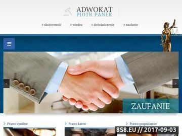 Zrzut strony Piotr Panek - kancelarie adwokackie