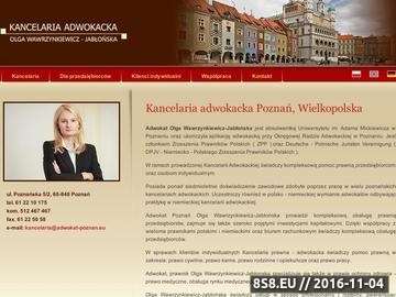 Zrzut strony Prawo rodzinne, kancelaria adwokacka Poznań