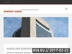 Miniaturka domeny adwokat-sanok.pl