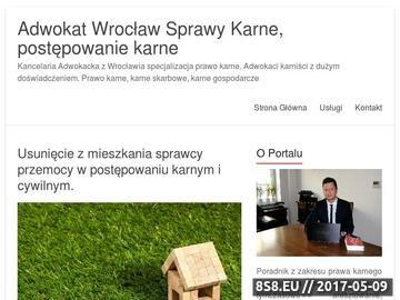 Zrzut strony Kancelaria adwokacka prawo karne Wrocław