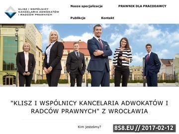 Zrzut strony Adwokat Wrocław Iwo Klisz