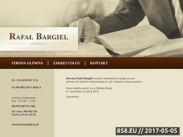 Zrzut strony Rafał Bargiel - Adwokat Bielsko - Biała