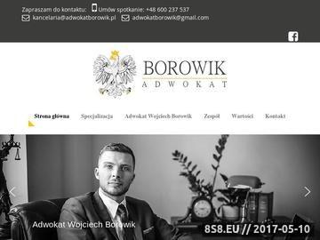 Zrzut strony Adwokat Wojciech Borowik