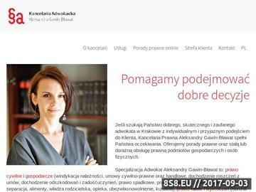 Zrzut strony Krakowska kancelaria prawna adwokatgb.pl