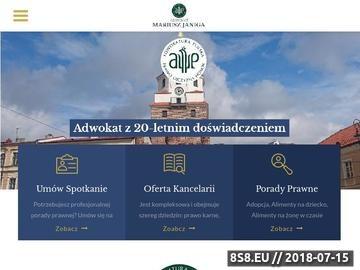 Zrzut strony Adwokat Mariusz Janiga