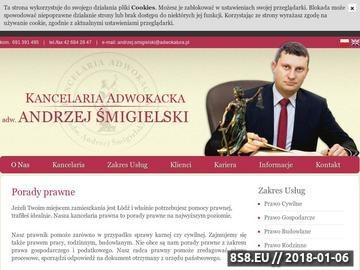 Zrzut strony Porady prawne Łódź