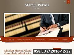 Miniaturka domeny www.adwokatpakosz.pl
